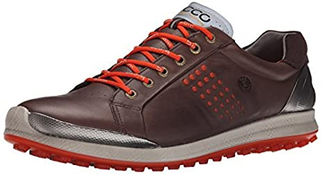 Ecco Golf BIOM Hybrid 2 Mens Mocha/Fire V856131CF Shoes