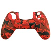 Silicone Cover For PS4 Controller Case Skin - Red Camo