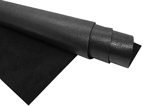 - Muse Craft Leather Hides - Full Grain Leather Square - Pre-Cut 1.1-1.3 mm Pearlized Leather Squares(Chrome Tanned) for Crafts/Tooling/Hobby Workshop (Black, 12''x 24'')