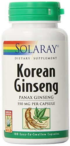 Solaray Korean Ginseng Root Capsules, 550 mg, 100 (Herbs 550 Mg 100 Capsules)