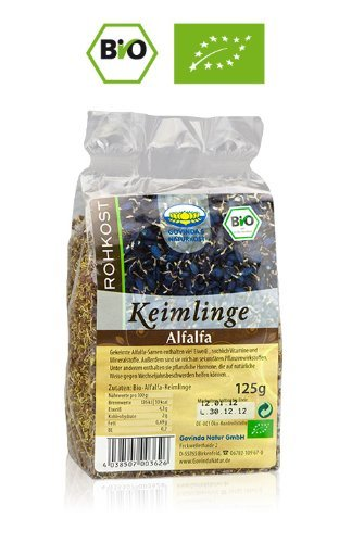 Alfalfa Keimlinge getrocknet - Bio 125 g