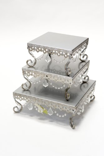 Opulent Treasures Square Cake Stands (Set of 3)