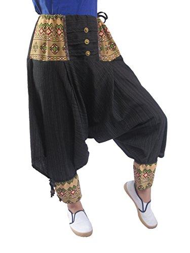 Baggy Boho Aladin Hippy Yoga Harem Wellness Cotton Fisherman Pants for Women...