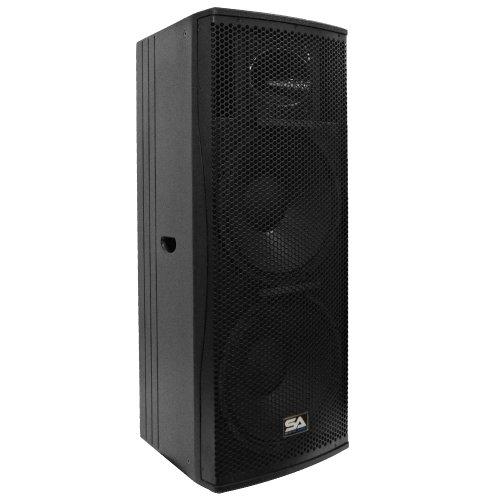 - Seismic Audio Magma-212-PW Premium Active Dual 12-Inch 2-Way Bi-Amp Loudspeaker Cabinet 800-Watts RMS