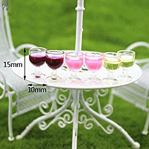 2 Filled Miniature Dollhouse FAIRY GARDEN Accessories ~ 4 Champagne Glasses