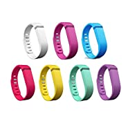 I-SMILE Colorful Replacement Bands with Metal Clasps for Fitbit Flex / Wireless Activity Bracelet Sport Wristband / Fitbit Flex Bracelet Sport Arm Band (No tracker, Replacement Bands Only)