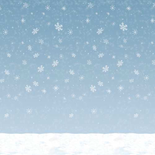 Winter Sky Backdrop Party Accessory (1 count) (1/Pkg) -