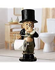 Funny Toilet Paper Holder, Resin Toilet Paper Holder Stand, Unique Toilet Paper Roll Holder, Old Gentleman Pinch Nose Carrying Toilet Paper, Creative Ornaments Bathroom Decor