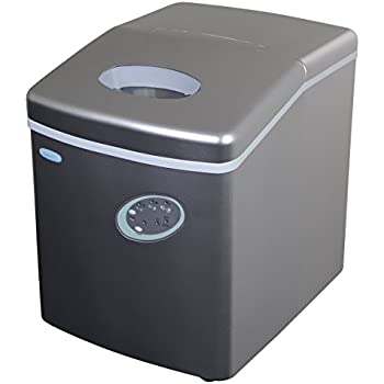 NewAir AI 100S 28 Pound Portable Ice Maker, Silver