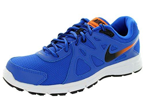 Nike Revolution 2, Zapatillas de Running para Hombre Azul / Negro / Dorado / Blanco (Lyon Blue / Black-Ttl Orng-White)