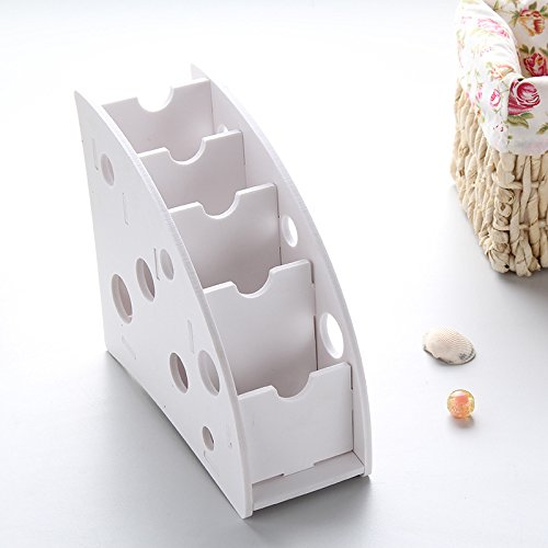 Dapeng Wooden TV/Air Conditioner Remote Controller Organizer Caddy Holder for Table,Desk Organizer-White
