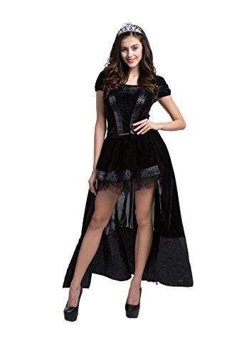 [Honeystore Women's Halloween Witch Queen Fancy Cosplay Long Dresses] (Good Witch And Bad Witch Costumes)