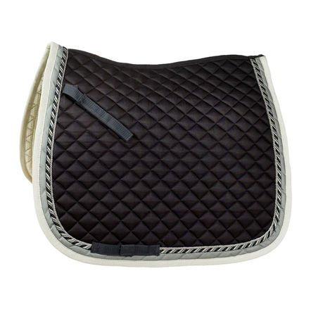 Horze Dressage Double Cord Saddle Pad - Size:Full Color:Black/Grey