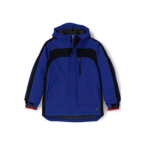 Lands End Kids Fleece - Lands' End Boys Squall Waterproof Winter Parka, S, Brilliant Cobalt