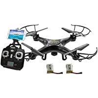 Alta Quadcopter Wi-Fi RC Drone iSIght FPV Live Stream Camera and 2 Batteries