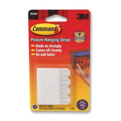 Command Picture Hanging Removable Interlocking Fasteners, 4 Set/Pack [Set of 2] - Removable Fasteners