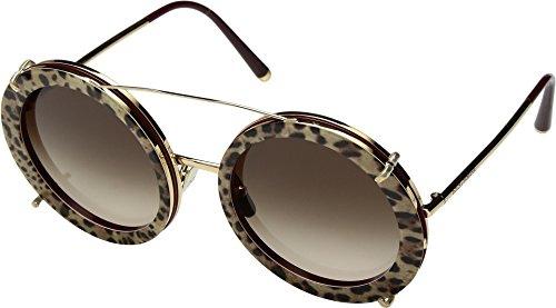 Dolce & Gabbana Women's Round Leo Sunglasses, Bordeaux Leo/Brown, One Size (Retail Gabbana Dolce Sunglasses)