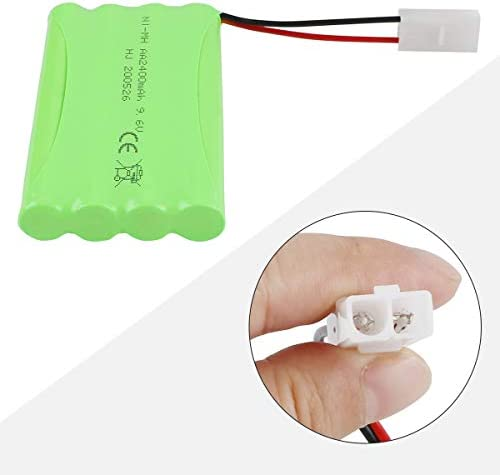 Hootracker 9.6V 2400mAh Rechargeable NiMH RC Battery with KET 2P Connector USB Charger Cable for RC Car RC Truck RC Boat