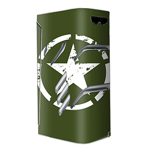 Skin Decal Vinyl Wrap For Smok T Priv 220W Tc Vape Stickers Skins Cover   Green Army Star Military