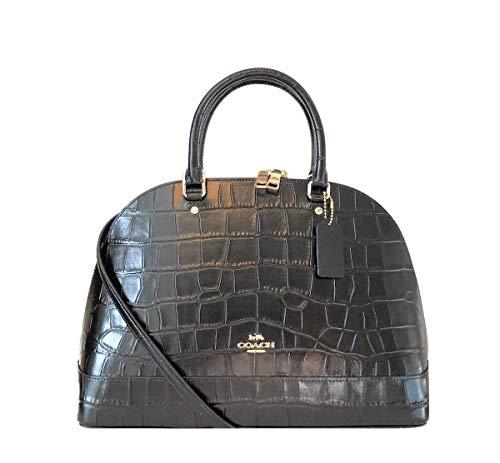 COACH SIERRA CROC SATCHEL IN LEATHER EMBOSSED (IM/Black) (Coach Handbags Embossed)