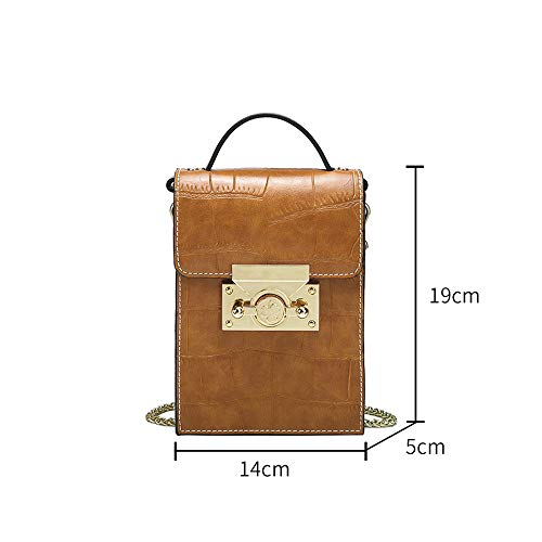 Bag Retro Shopping Marrone Casual Donna Mini Phone Messenger Ms Wild 14 Rosa Bag Chain 19cm Colore Moda Dxqi 5 Lady Misura Messenger Pt0gwqw