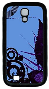 Samsung Galaxy S4 I9500 Case and Cover -Abstract Vector TPU Silicone Rubber Case Cover for Samsung Galaxy S4 I9500¨CBlack