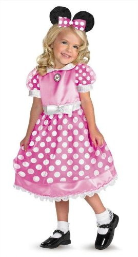 House Md Halloween Costume (Morris Costumes Girl's CLUBHOUSE MINNIE PINK MD 3T-4T)