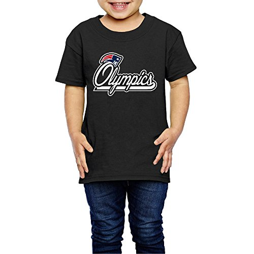 Plate Girl Cheerleader (AK79 Kids 2-6 Years Old Boys And Girls New England Logo Patriots Tshirt Black Size 2 Toddler)