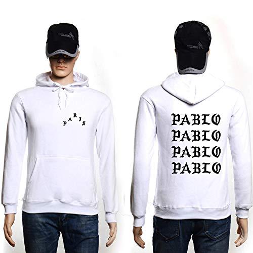 The small cat Hip Hop Hoodies Men Streetwear Hoodie Sweatshirts,White and Black,L (Cat-ausschnitt)