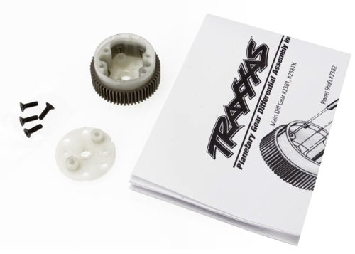 (Traxxas 2381X Main Differential Housing and Side Plate)