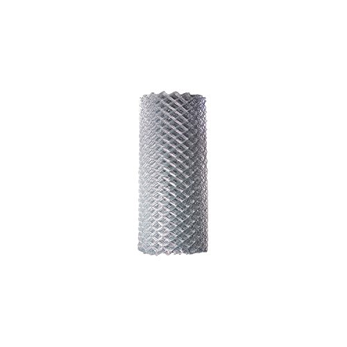 ALEKO CLF115G4X50 Chain Link Mesh Roll for DIY Fence System Galvanized Steel for Home Business Agriculture 4 x 50 Feet Silver ()
