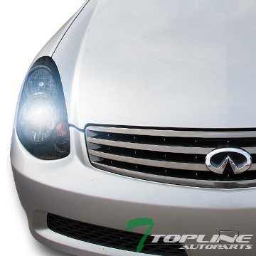 (8000K HID XENON JDM BLACK HEAD LIGHTS LAMPS SIGNAL KS 03-04 INFINITI G35 4D/4DR)
