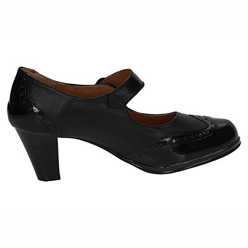 Zapatos Anchos Spain Tacón Negro 6013 Señora Tacones In Made n1HPYqwI