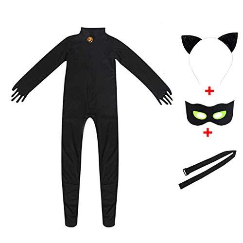 Cat Girl For Halloween (Kids Black Cat Costume - Boy Girl Child Halloween Cat Cosplay)