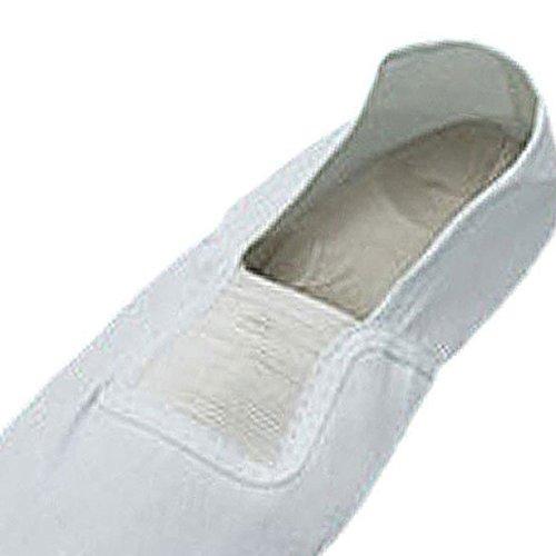 Chaussures de Dance elastiques - SODIAL(R) Bande elastique blanches Chaussures de Dance pour filles Taille 11,5