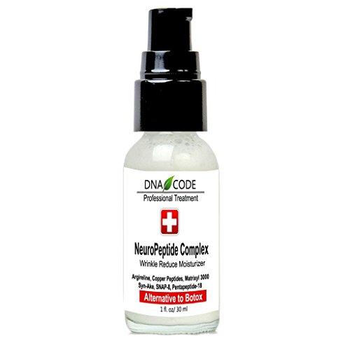 DNA Code- No Needle Alternative-Argireline NeuroPeptides Wrinkle Reduce Moisturizer+Matrixyl 3000, Syn-Ake, SNAP-8, Copper Peptides