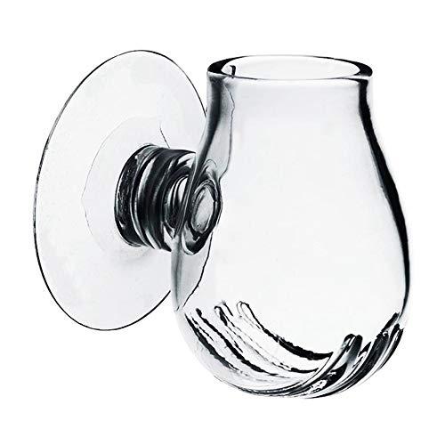 MacRoog Glass Feeding Food Cups Fish Dish Tray Aquariums Fish Tank Accessory