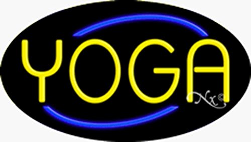 - 17x30x3 inches Yoga Flashing ON/OFF NEON Advertising Window Sign
