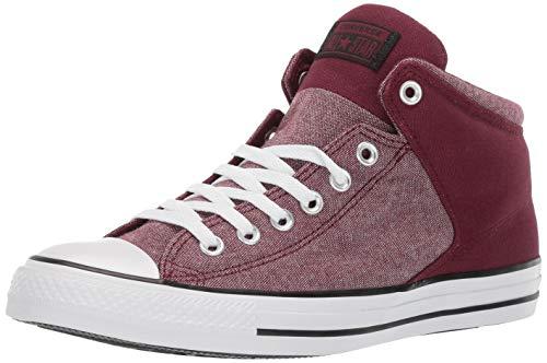 Converse Men's Unisex Chuck Taylor All Star Street High Top Sneaker, Dark Burgundy/White/Black, 8 M US]()