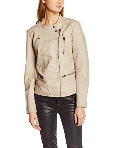 Beige Only Simply Noos Biker Impermeable Leather Taupe Otw Faux Onlfreya Mujer 8wCF8nqU