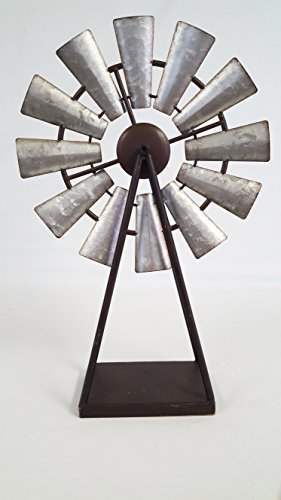 Large Standing and Spinning Windmill Metal Decor by Everydecor (Image #3)'