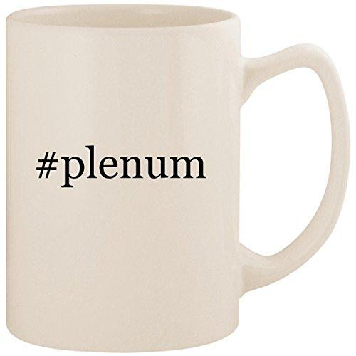 - #plenum - White Hashtag 14oz Ceramic Statesman Coffee Mug Cup