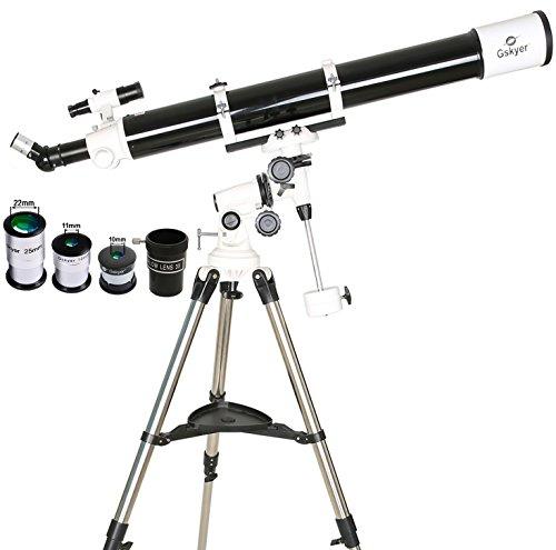 Gskyer Power Seeker Refractor 90mm EQ Telescope Using German