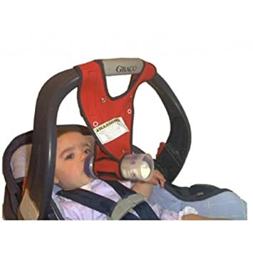 Hands Free Baby Bottle Holder Sling Infant Feeding Red Makers Of Bebe