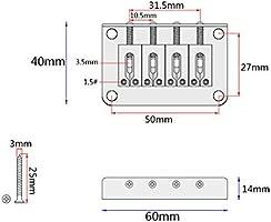 B Baosity Guitarra Eléctrica De 4 Cuerdas Bajo Puente Fijo Columna Trasera Con Tornillos Llave: Amazon.es: Instrumentos musicales