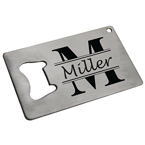 Personalized Beer Opener Man Card - Engraved Credit Card Bottle Wallet Opener - Custom Made for Free (Classic Style - Stainless Steel) -