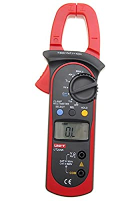 Uni-t Ut204a Ac/dc Lcd Digital Clamp Multimeter DMM 600a Voltage Current Resistance Frequency Test Meter