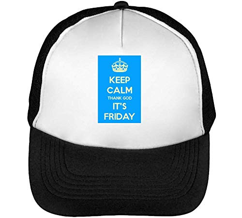 Snapback Slogan Hombre Gorras Beisbol It'S Negro Calm God Keep Friday Thank Blanco Funny y6zncRYW