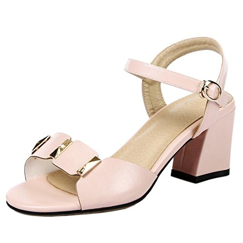 Sandales TAOFFEN Pink Bloc Femmes Talons FrW4TnF