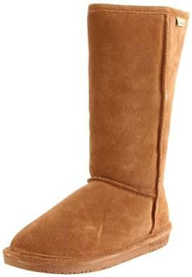 Bearpaw Womens Emma Tall 12-Inch Suede Sheepskin Boot, Luggage, US 6